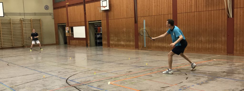 Zwei Spieler der Speeders Zürich beim Training
